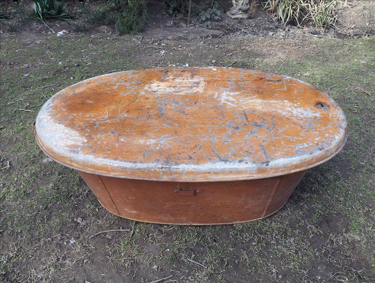 Military Campaign Tin Bath Rare Original Antique