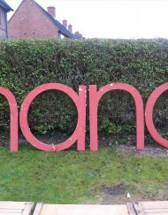 Large 3d Metal Letters Sign, Wedding, Advertising, Vintage, Industrial (4ft)