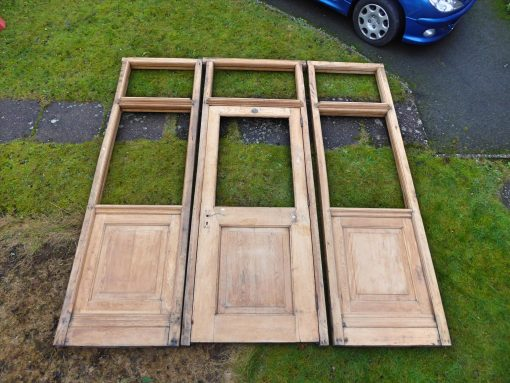 Large Solid Oak Doorway / Entrance way / Partition Wall / Divider Late 19th Century 9ft x 8.46ft