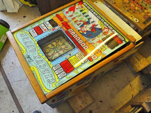 """Bingo Pinball Machine Vintage Bally 1960 """"Circus Queen"""""""